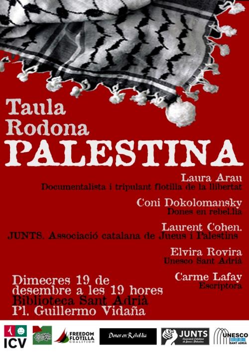 cartell acte palestina sant adrià